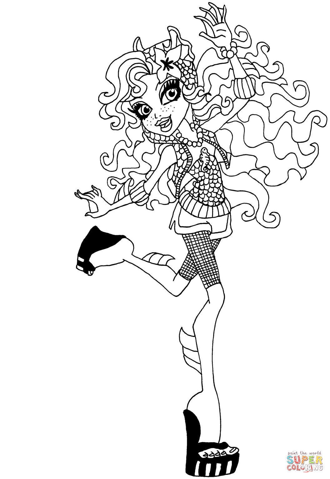Cool Lagoona Blue Coloring Page