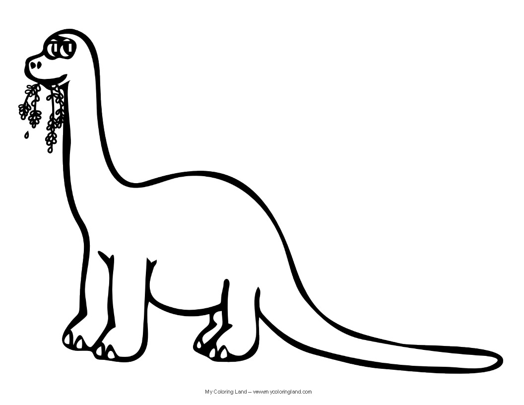 Cute Dinosaurs Coloring Pages For Kids  6350 Cute Dinosaurs