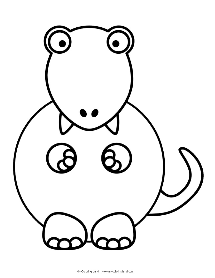 Cute Dinosaurs Coloring Pages Printable  6355 Cute Dinosaurs