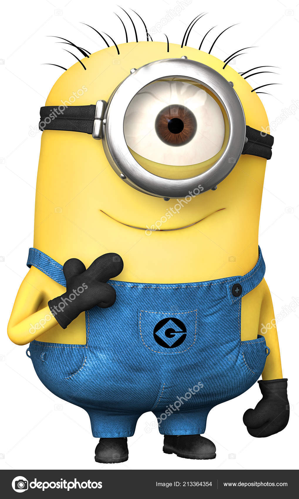Minion Yellow One Eye Character Funny Illustration Cartoon – Stock