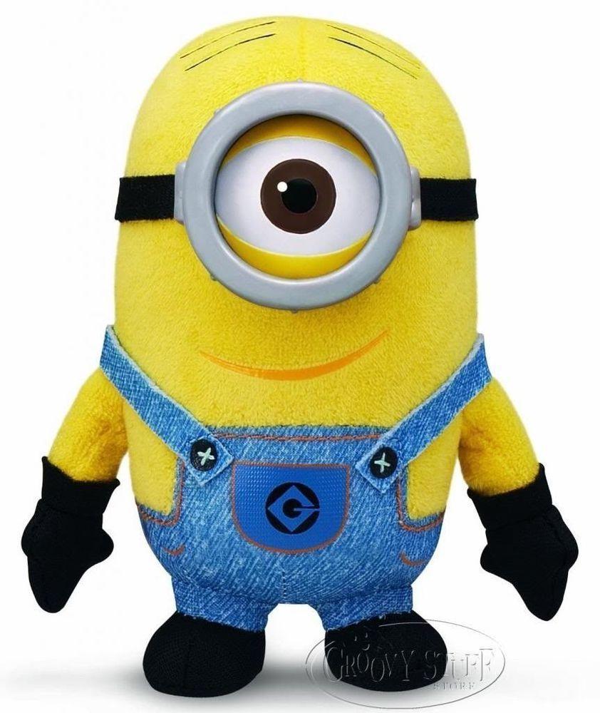 Despicable Me 2 Minion Stuart W  One Eye Stuffed Plush Mini Bean