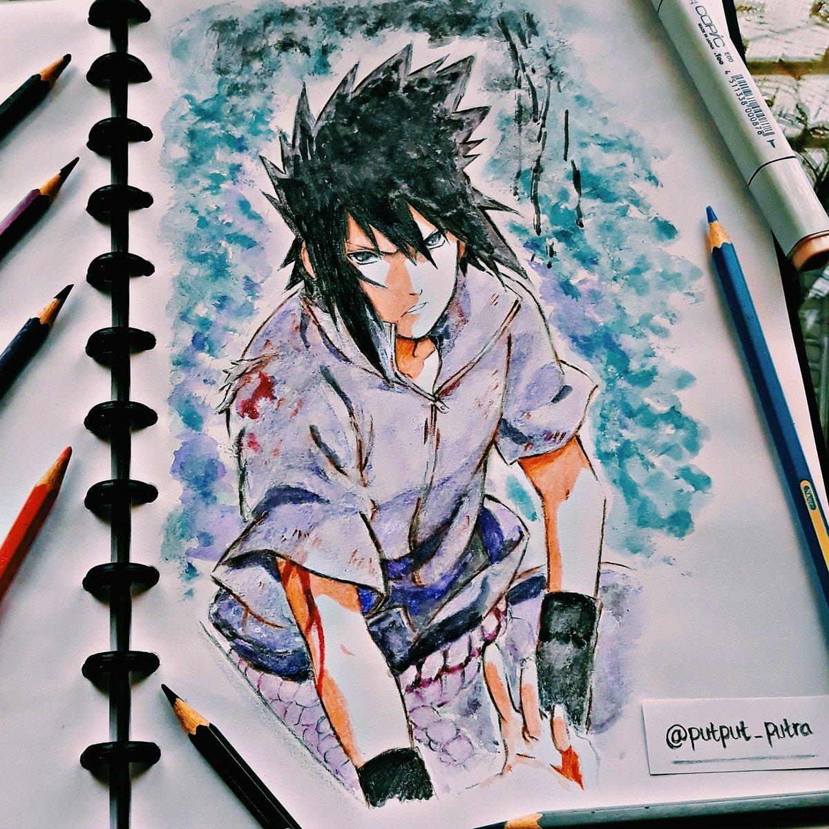 Yaumil Putra On Twitter   Sasuke Uchiha  Drawing  Naruto  Anime
