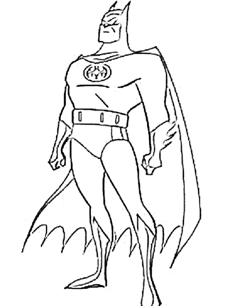 Batman  2 (superhéroes) – Páginas Para Colorear