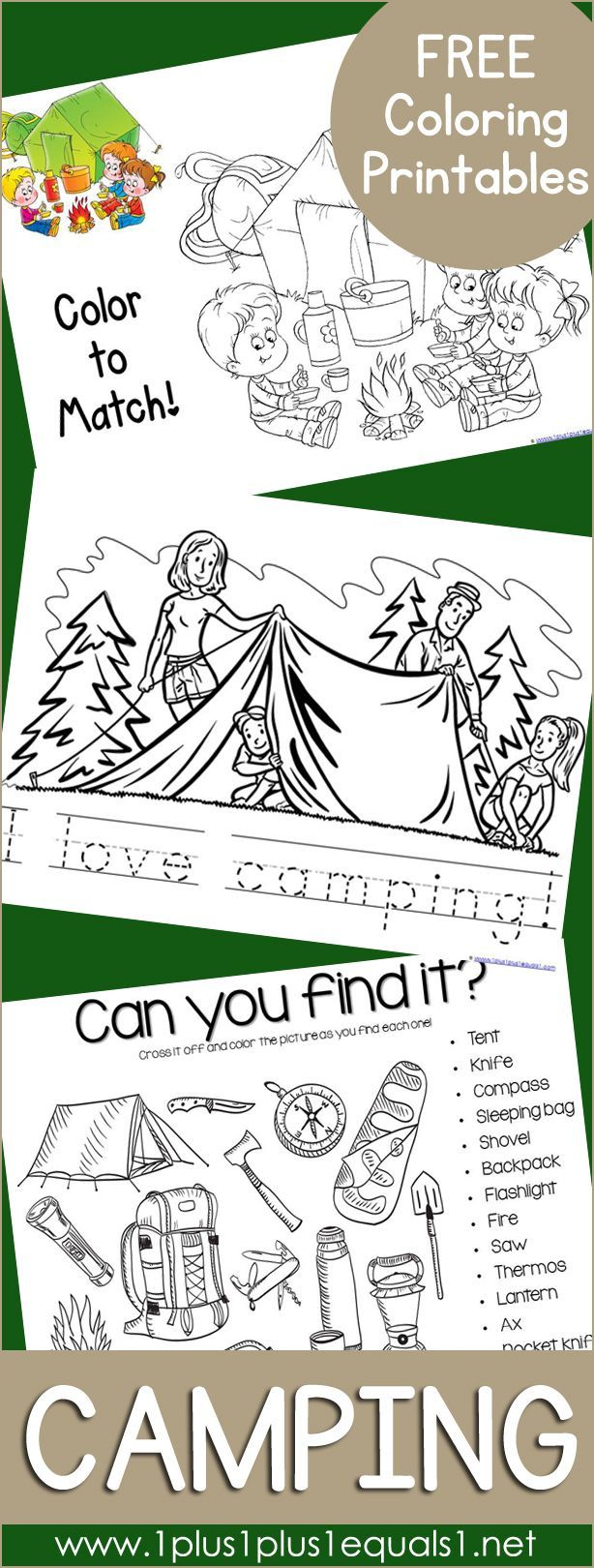 Free Camping Coloring Printables ~ Coloring Activities And