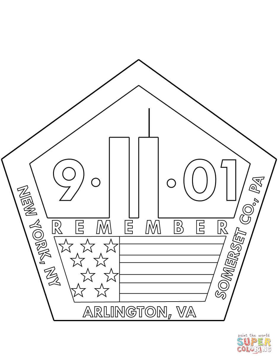 11th September Memorial Coloring Page