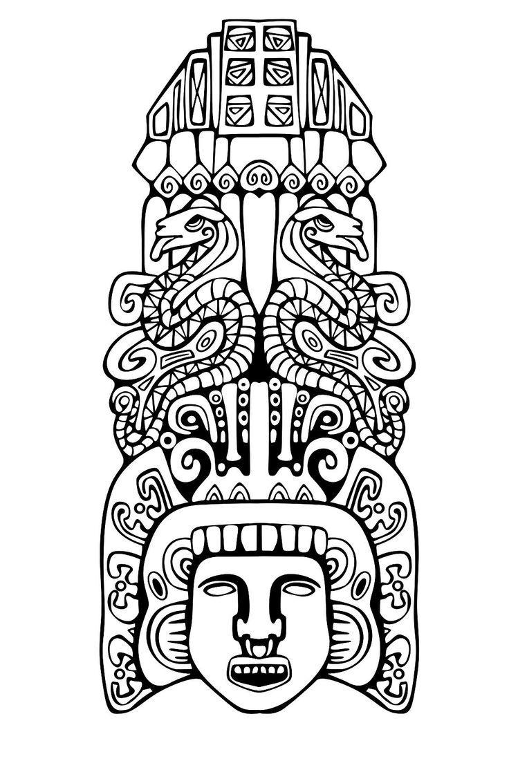 Tribal Pattern Stencil
