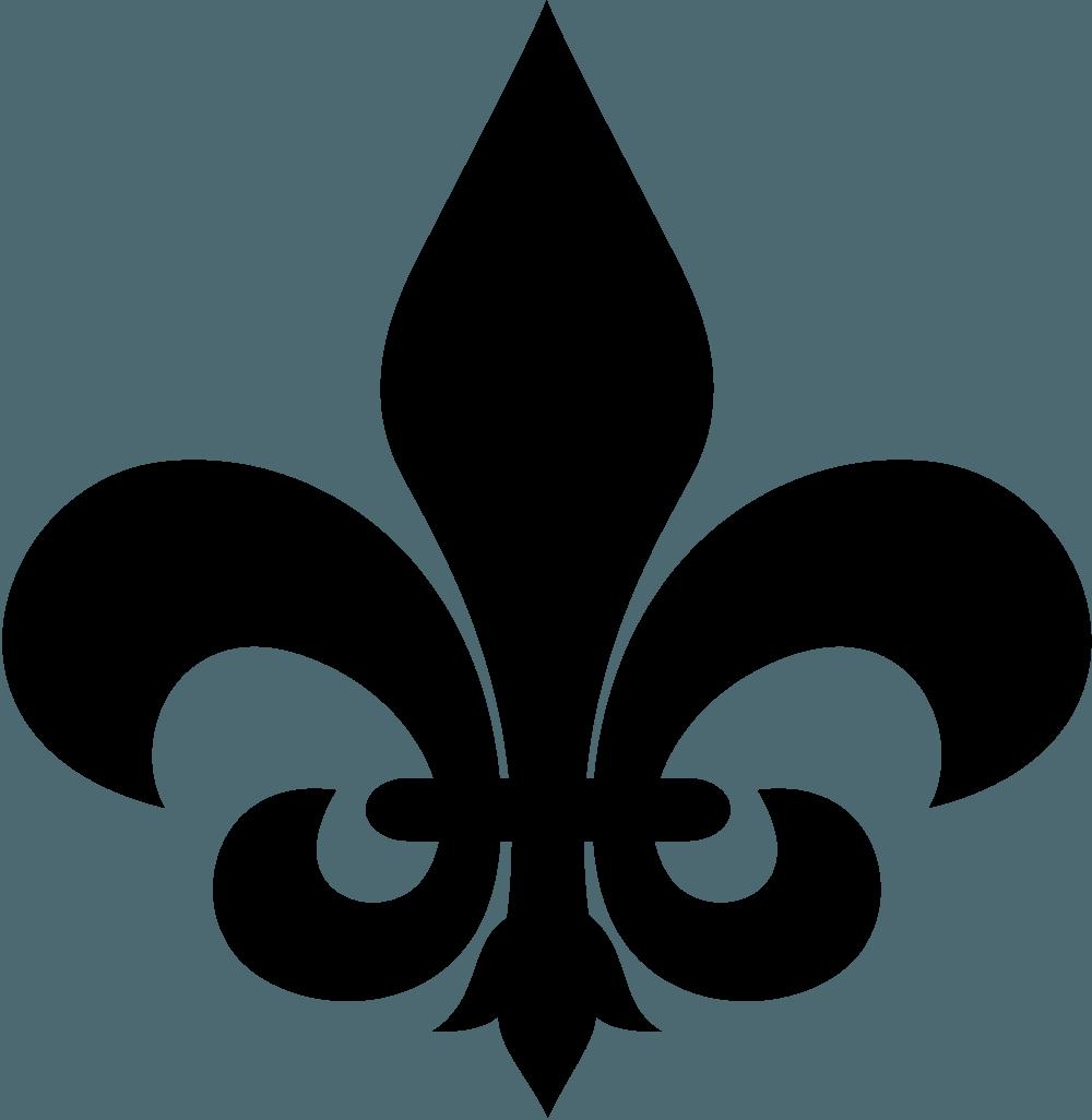 Fleur De Lis Silhouette Tattoo Design