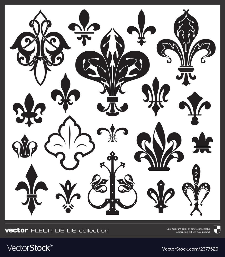 Fleur De Lis Silhouettes Royalty Free Vector Image