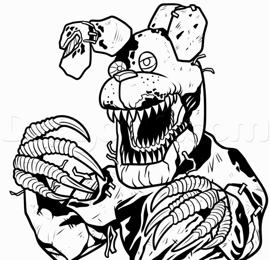 Coloring Page ~ Fnaf Coloring Pages Online Bonnie Nightmareawing