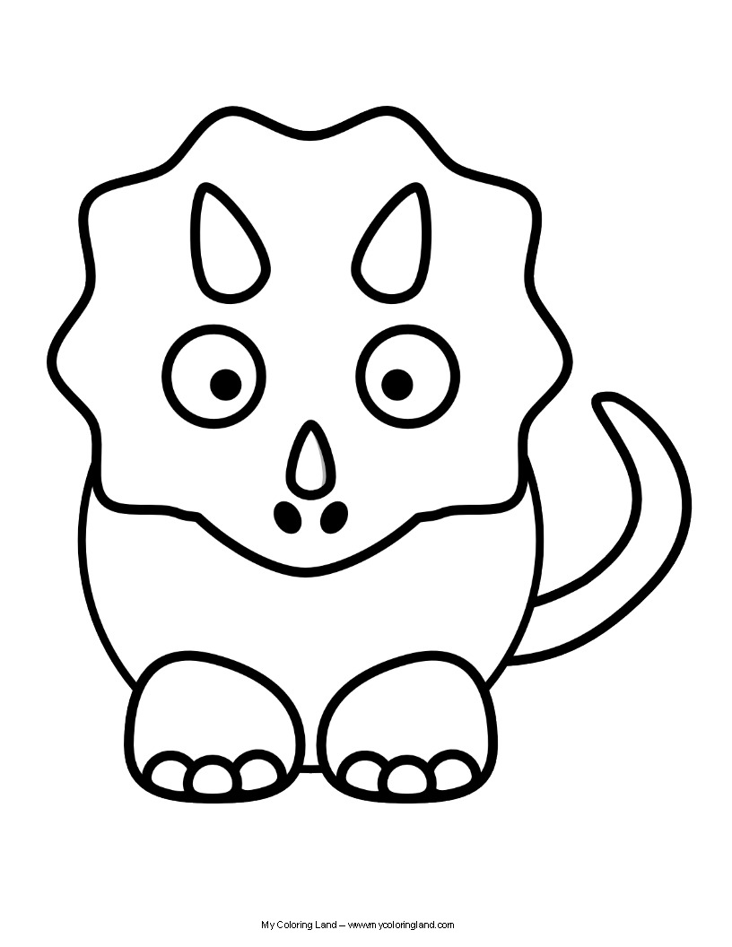 Free Cute Dinosaurs Coloring Pages  6349 Cute Dinosaurs Coloring