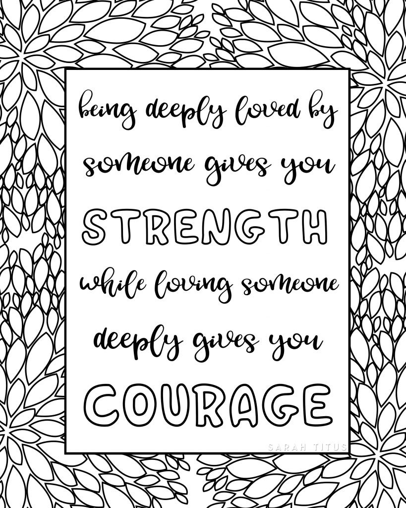 Free Printable Love Quotes Coloring Sheets