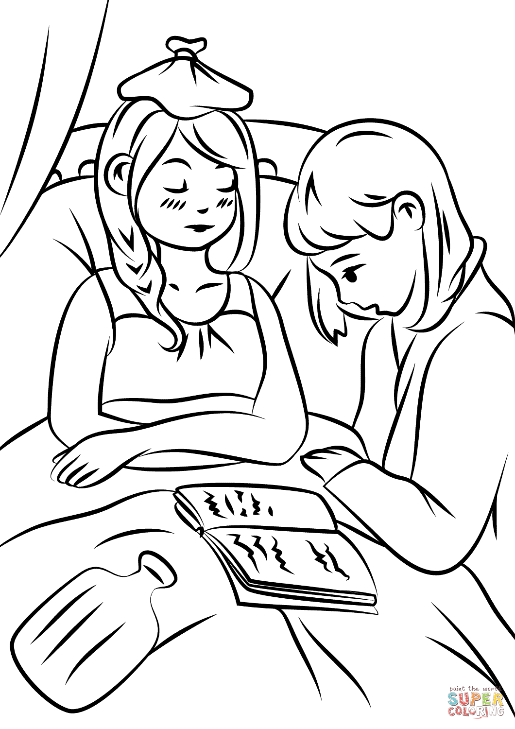 Helping The Sick Coloring Page