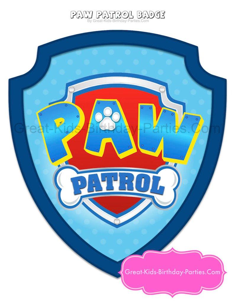 Paw Patrol Badge Paw Patrol Birthday Paw Patrol
