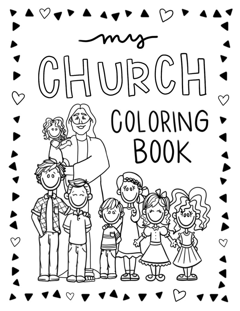 8 5x11 Lds Church Coloring Book 20 Pages