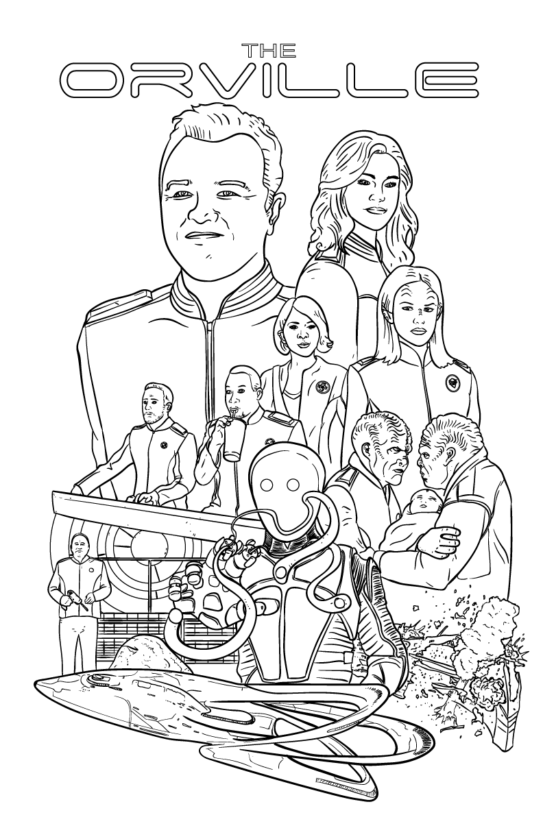 I Drew An Orville Coloring Book Page For You Guys  Enjoy