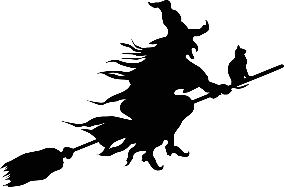 Witchcraft Silhouette Witch's Broom Drawing Cc0
