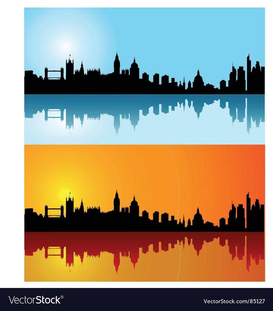 London Skyline Silhouette Royalty Free Vector Image