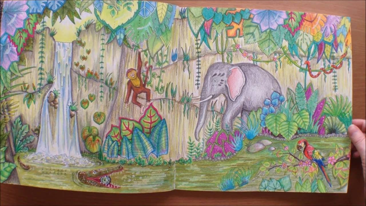 Magical Jungle By Johanna Basford Colouring Book Flipthrough