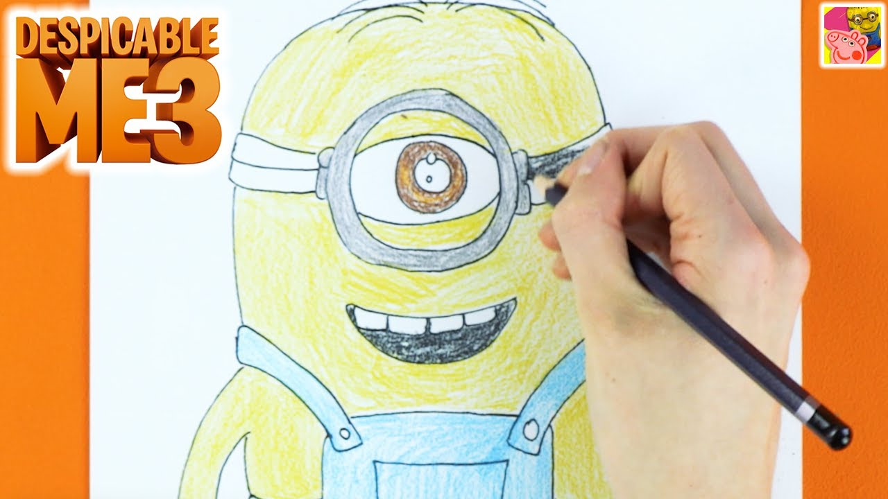 Learn How To Draw A One Eyed Minion