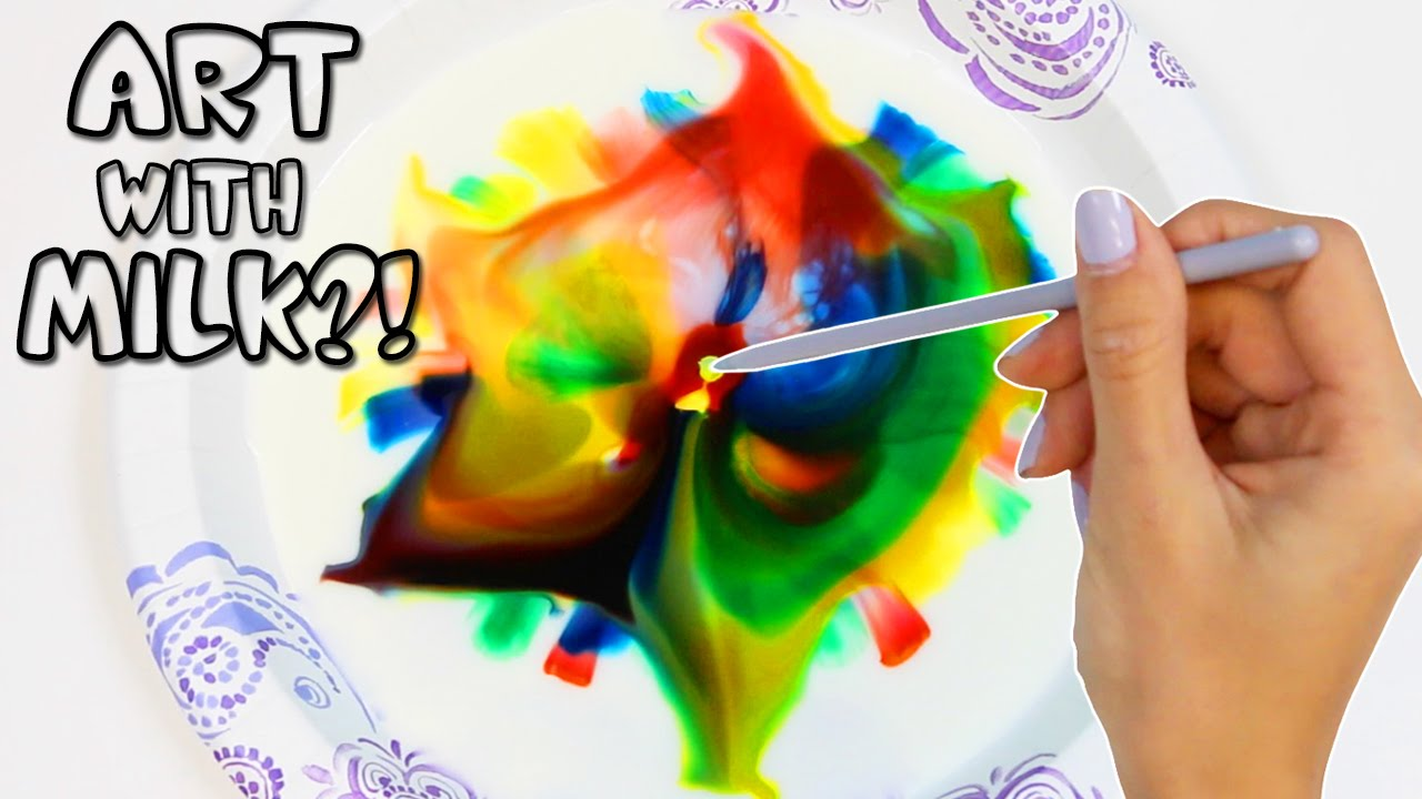 Creating Art With Milk, Soap, & Food Coloring!