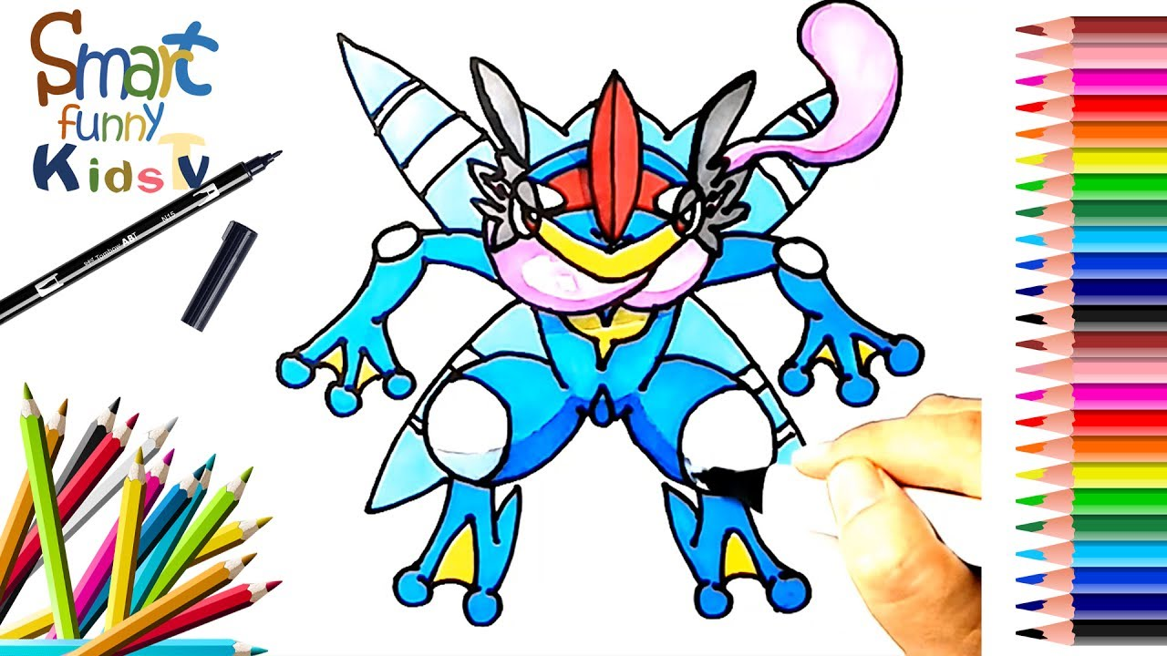 Pokemon Greninja Coloring Pages