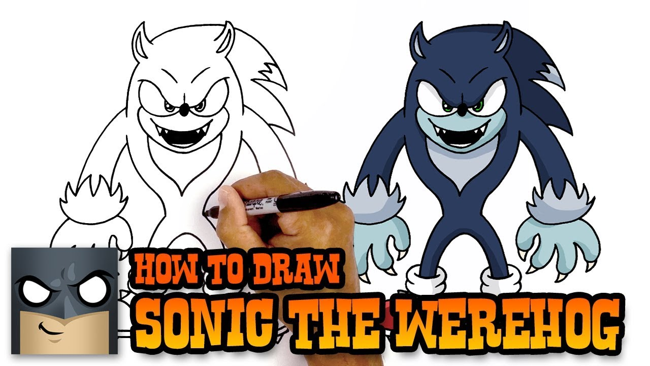 How To Draw Sonic The Werehog (art Tutorial)