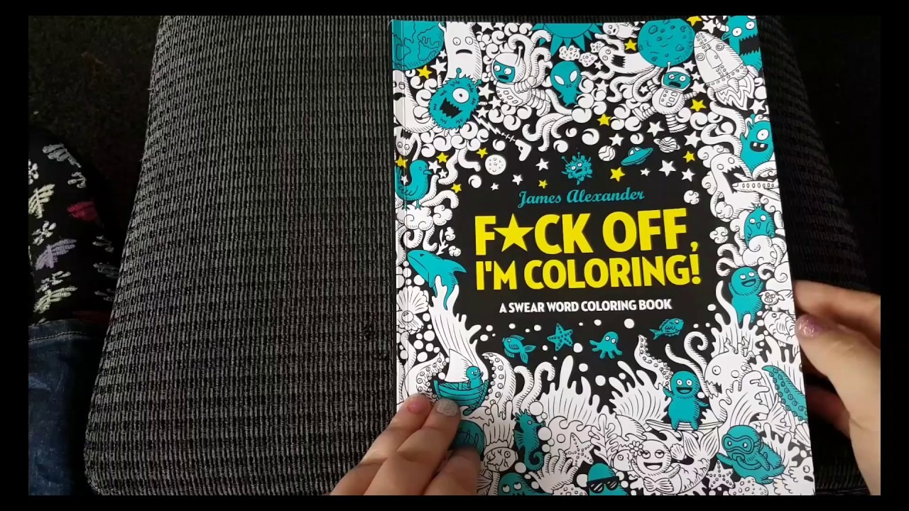 Completed James Alexander's Fuck Off I'm Colouring! Flip Through