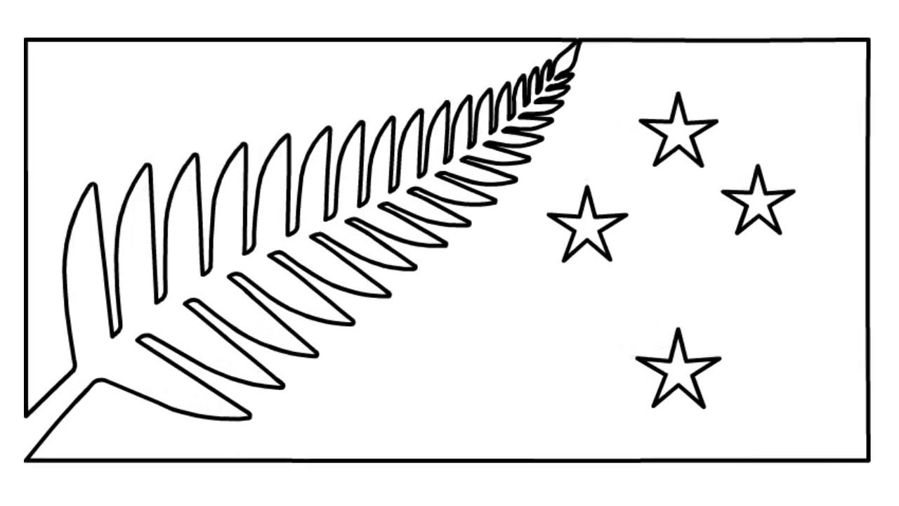 New Zealand National Flag Drawing How To Draw New Zealand Flag