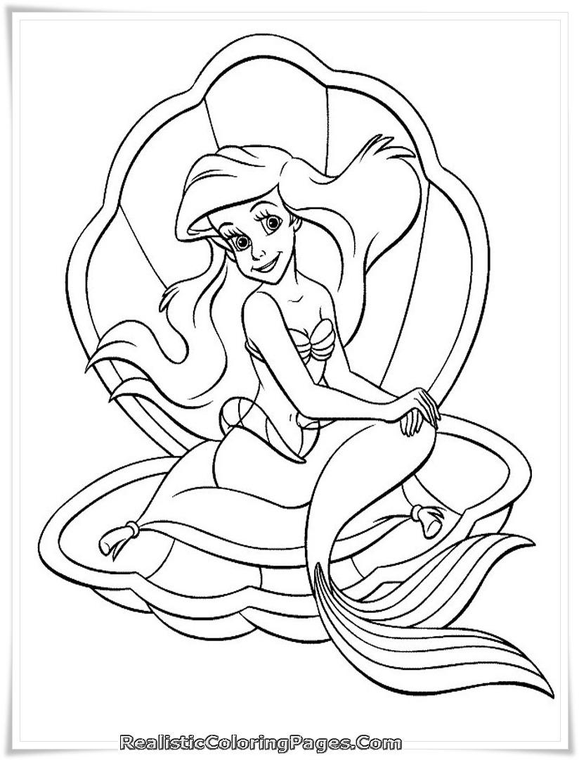 Mermaid Tale Printable Girl Coloring Pages  2289 Barbie Mermaid