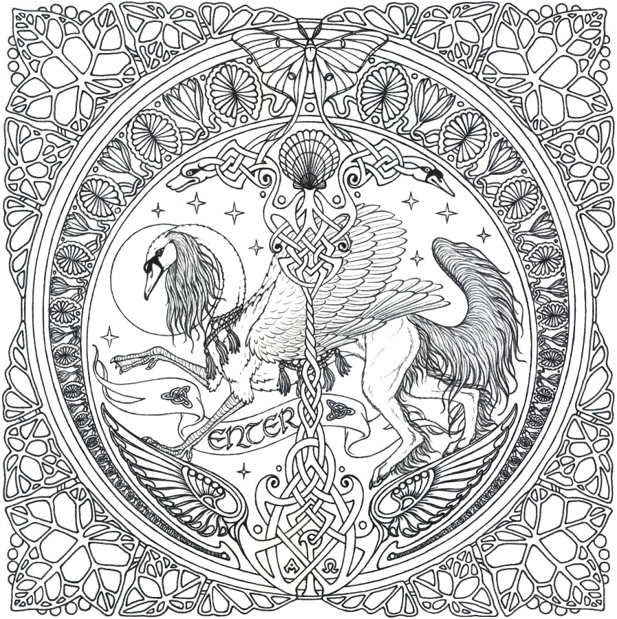 10+ Awesome Pagan Yule Coloring Pages