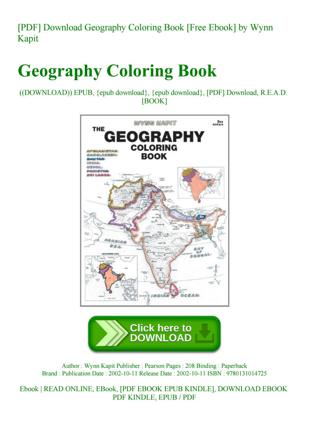 Pdf] Download Geography Coloring Book [free Ebook] By Wynn Kapit