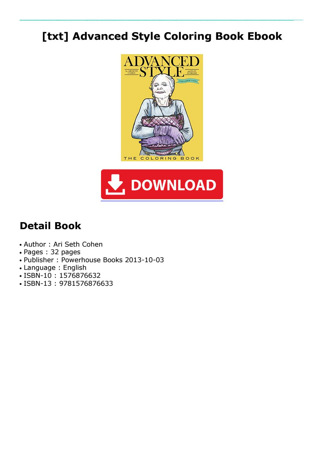 Txt] Advanced Style Coloring Book Ebook By Bkvxtdxzq