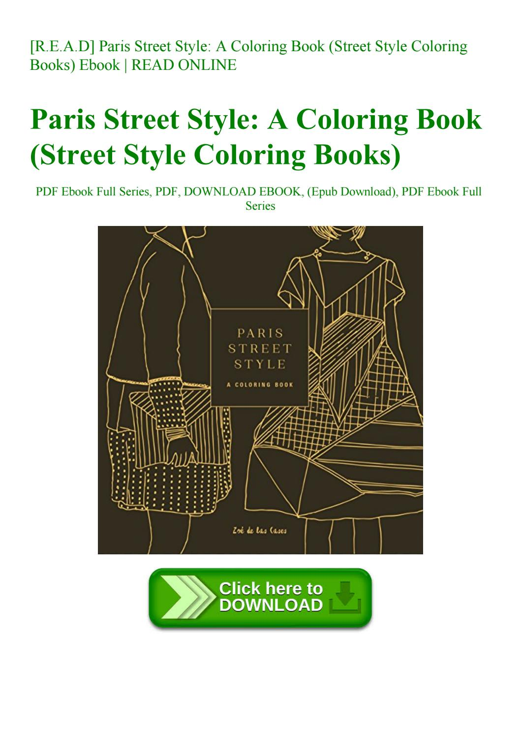 R E A D] Paris Street Style A Coloring Book (street Style Coloring