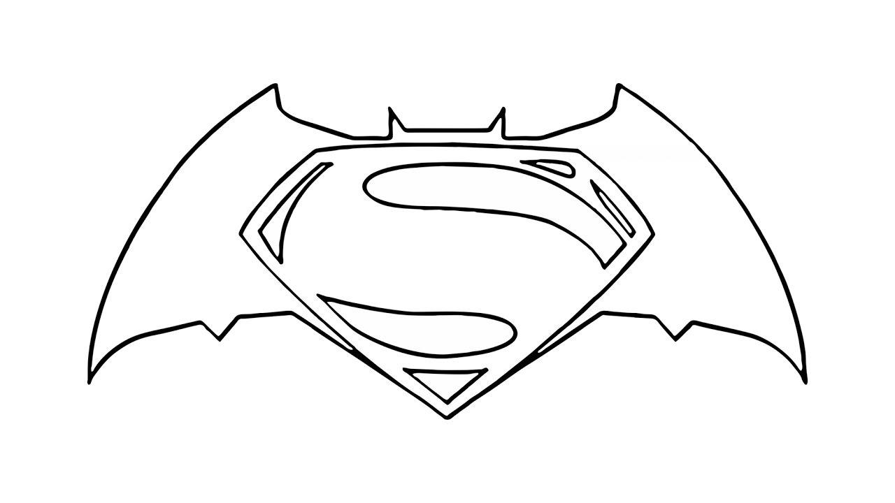 Perfecto Logotipo De Batman Para Colorear Bosquejo Enmarcado