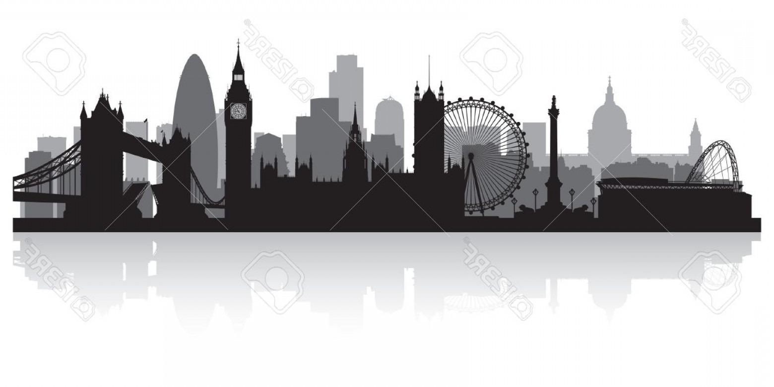 Photolondon City Skyline Silhouette Vector Illustration