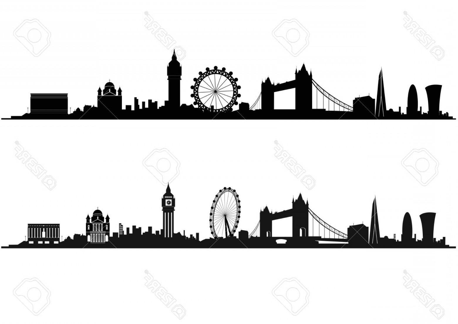 Photostock Vector London Skyline Silhouette In Black And White