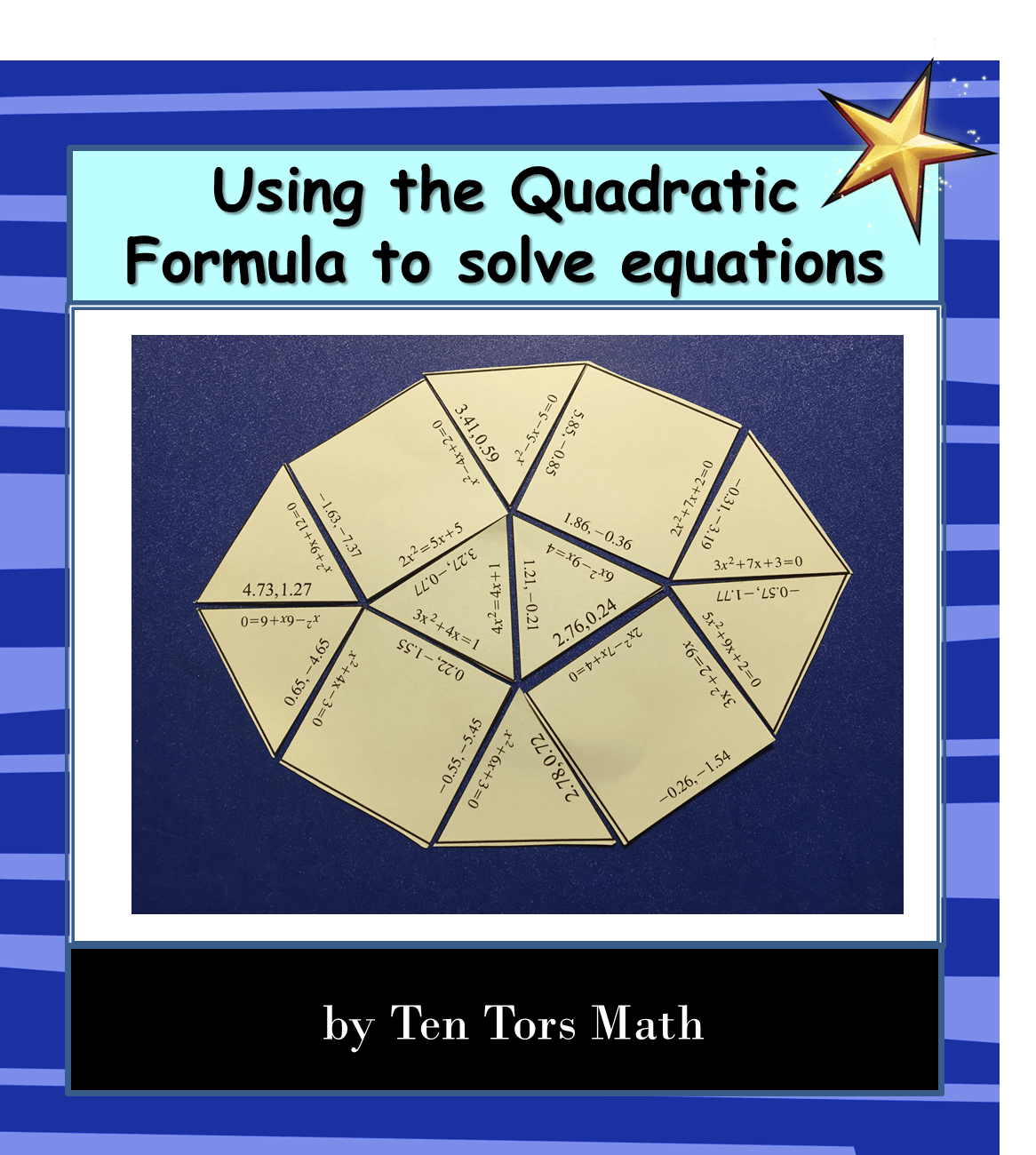 The Quadratic Formula Coloring Activity - NEO Coloring