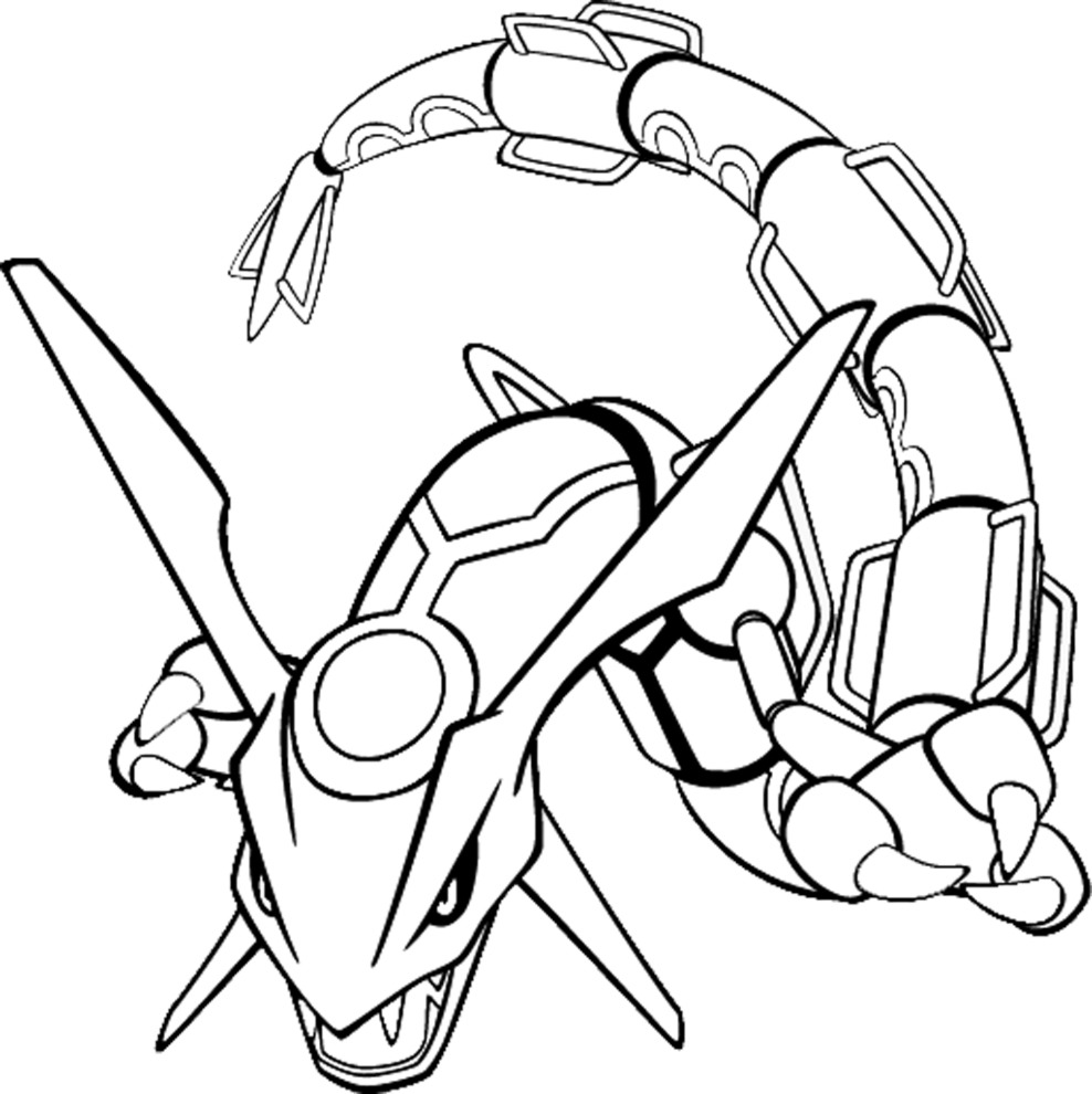 Rayquaza Coloring Pages - NEO Coloring