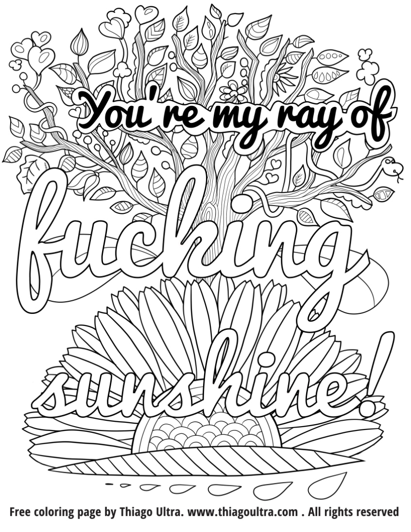 Coloring Pages Ideas  Printable Curse Word Coloring Pages For