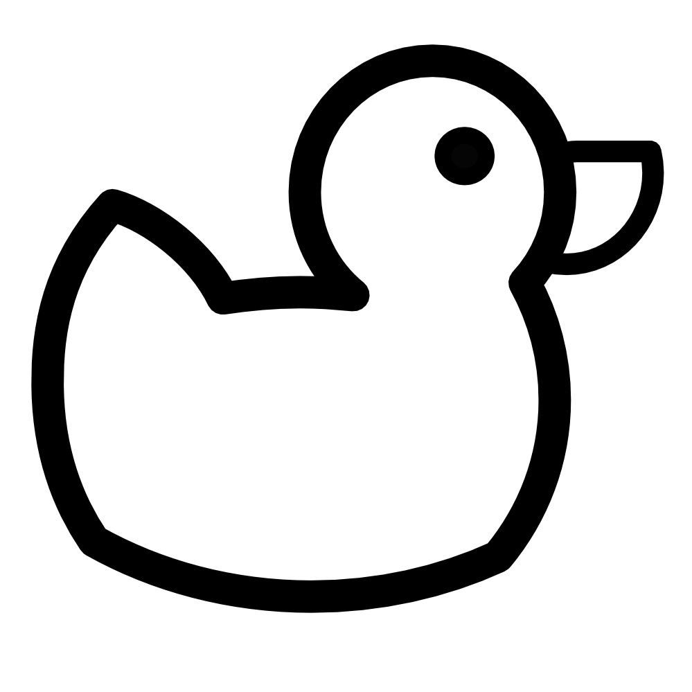 Rubber Duck Clipart Black And White Free