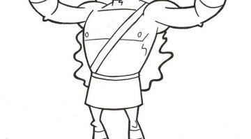 Samson And The Lion Coloring Pages