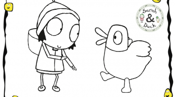 Sarah And Duck Coloring Pages