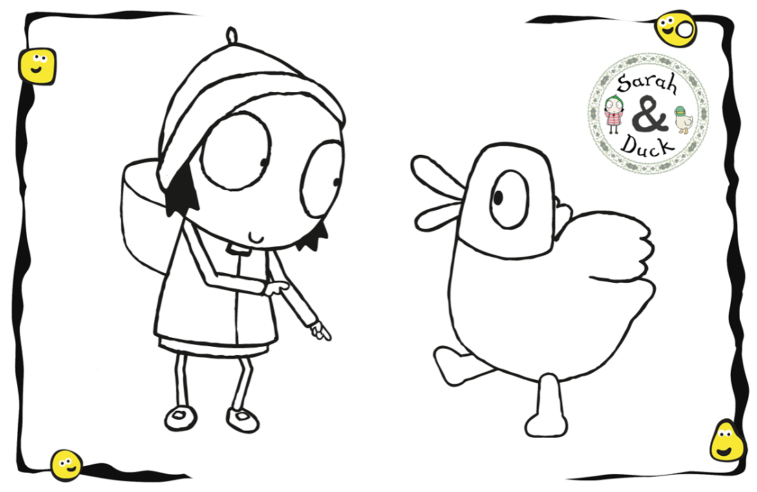 Sarah And Duck Coloring Pages For Kids