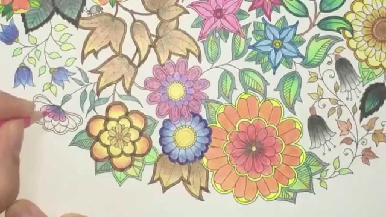 Coloring Ideas   Secret Garden Coloring Book Page Youtube