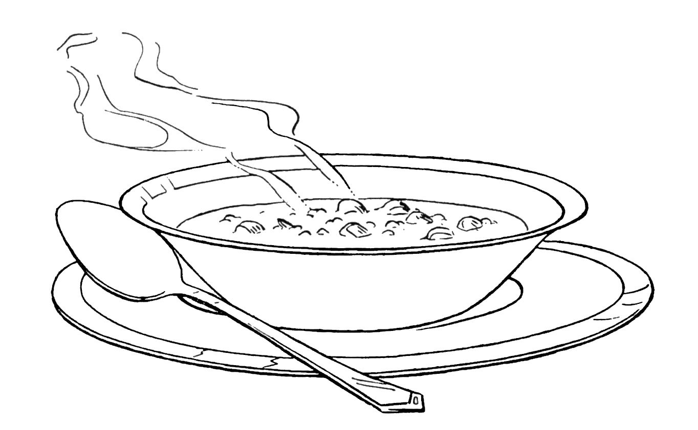 8 Soup Drawing Coloring Page For Free Download On Ayoqq Org