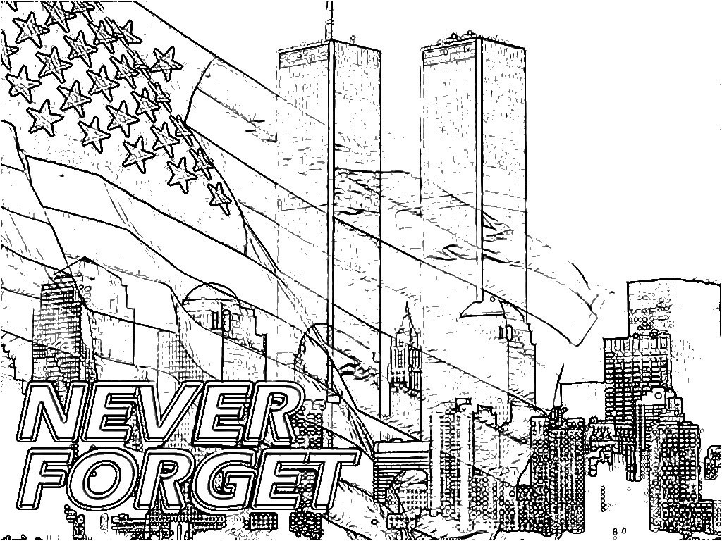 Surging September 11 Coloring Pages We Remember 9 01 Page Free