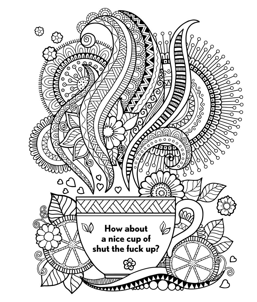 Coloring Ideas   Swear Word Coloring Book Amazon Com The Hannah