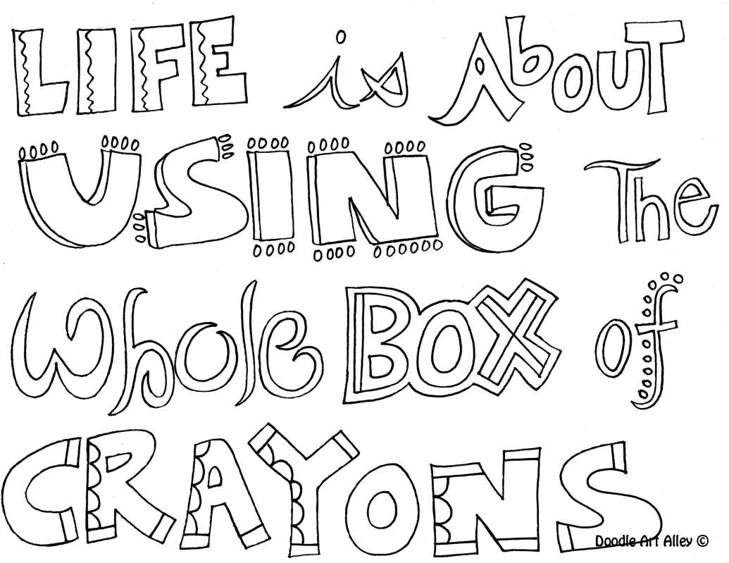 Teen Quote Coloring Pages All Quotes Art Printables Handouts