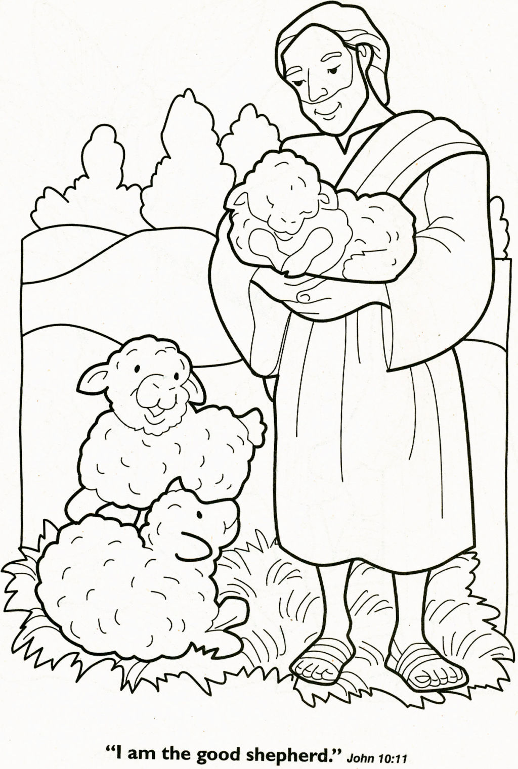 The Lord Is My Shepherd Coloring Page – Coloring Pages
