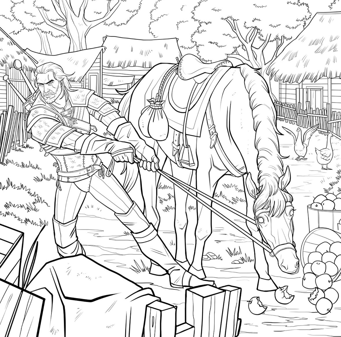Finally, The Witcher Gets Its Own Coloring Book Complete With Bath